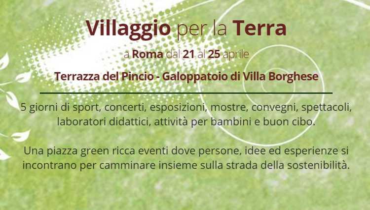A Roma torna il 'Villaggio per la Terra', cinque giornate di eventi